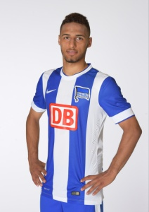 Hany Mukhtar (#34 - Hertha BSC) during the photo shoot for the autograph cards on july 9, 2014 in Berlin, Germany.(Photo by Marco Leipold/City Press via Getty images)